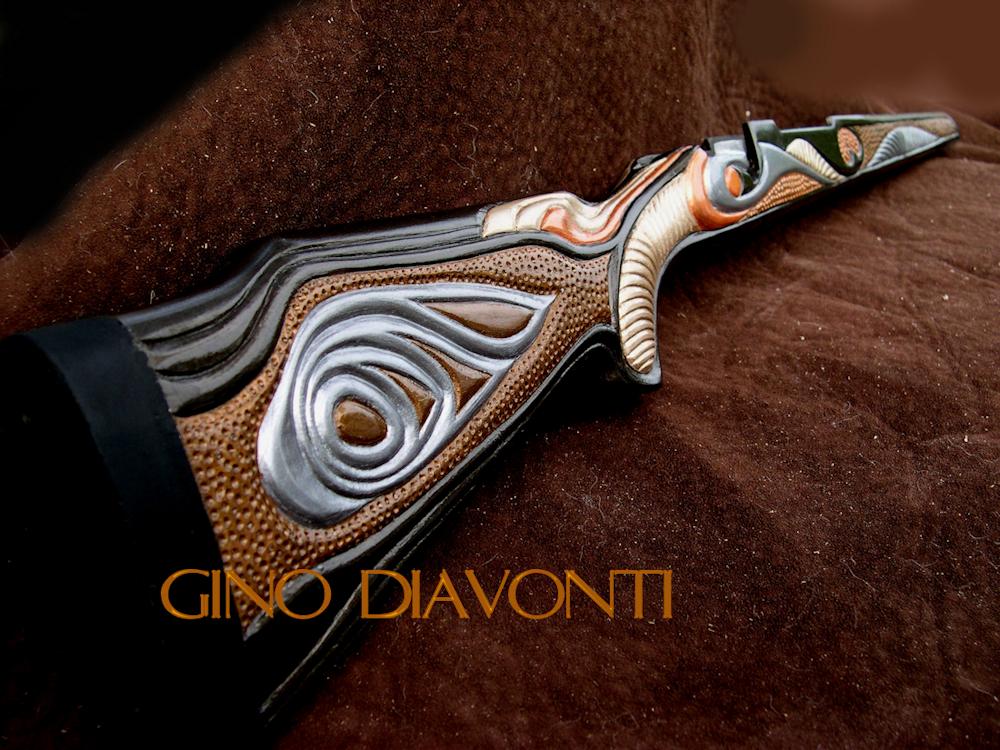 Gino diavonti fine artist and sculptor custom carved gunstocks