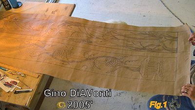 This is the template drawing that will become the carved acrylic